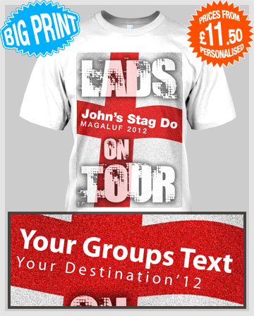 england mens holiday lads t-shirts