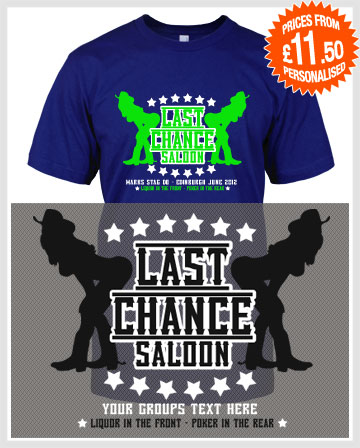 last chance saloon stag t-shirts