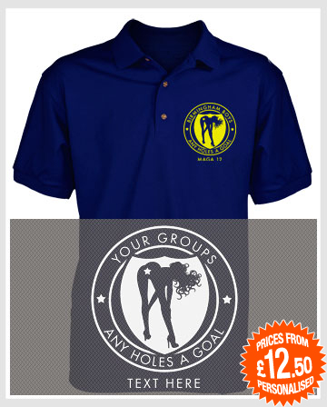 Any Holes a Goal Polo Shirts