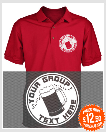beer logo polo shirts
