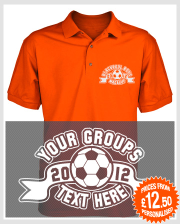 Football badge polo shirts
